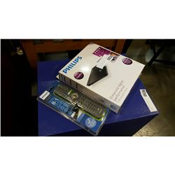 NEW PHILIPS INDOOR HDTV DIGITAL ANTENNA AND NEW UNIVERSAL REMOTE
