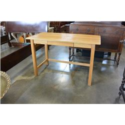 OAK MISSION STYLE DESK WITH DRAWER