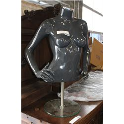 MANEQUIN TORSO AND GLASS STAND