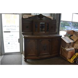 LARGE ANTIQUE 2 PIECE SERVER WITH DISPLAY