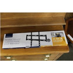 NEW OVERSTOCK INSIGNIA 33-46 INCH FIXED POSITION TV WALL MOUNT, COMPLETE, UP TO 80 LBS