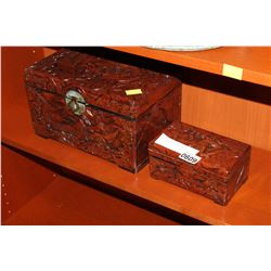 EASTERN CARVED WOOD BOXES