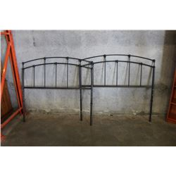 2 DECORATIVE METAL DOUBLE SIZE HEAD BOARDS