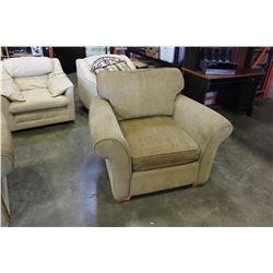 PAIR OF ULPHOSTERED ROLLED ARM LIVING ROOM CHAIRS