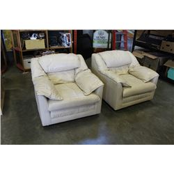 PAIR OF LEATHER ARM CHAIRS