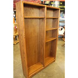 6 FOOT OAK DOUBLE BOOKSHELF