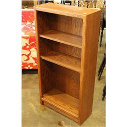 4 FOOT OAK BOOKSHELF