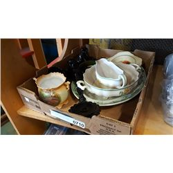 TRAY OF VINTAGE COLLECTIBLE CHINA - MOST ENGLISH POTTERY