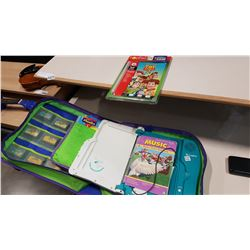 CASED LEAPPAD LEARNING SYSTEM W/ GAMES