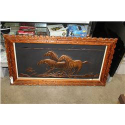 EMBOSSED BRASS HORSE PICTURE