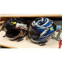 ARAI AND SHOEI MOTORCYCLE HELMETS WITH SCALA RIDER COMMICATION DEVICES