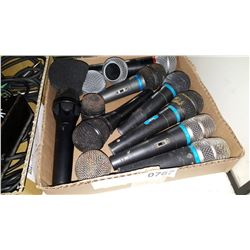 BOX OF MICROPHONES