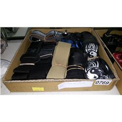 6 GUITAR STRAPS AND 2 GUITAR TUNERS