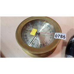 BRASS SHIPS TIME QUARTZ CLOCK