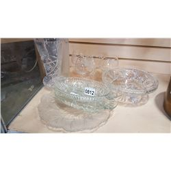 LOT OF CRYSTAL AND STEMWARE