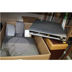 TOSHIBA SURROUND SOUND SPEAKERS WITH DVD RECEIVER