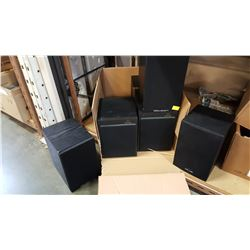 POLK AUDIO AND WHARFEDALE SPEAKERS