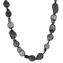 Silver Tahitian Pearl Necklace