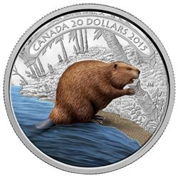 .9999 Fine Silver $20.00 Coin 'Beaver at Work' (SR