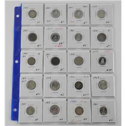 Lot (20) Canada Silver 10 Cent (SOC)