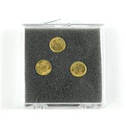 Lot (3) Mini Gold Coins Estate.