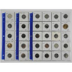 Lot (60) Canada Coins, Mostly 25cent, Dealer Store