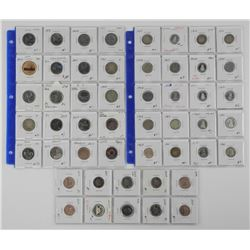 Estate - Collection Lot (50) CAD Coins - 5 cent,10