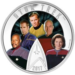 .9999 Fine Silver $30.00 Coin 'Star Trek' '5 Capta