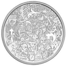 2014 $30.00 Canadian Contemporary Art - Pure Silve