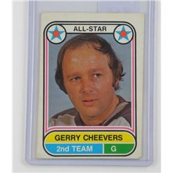 Gerry Cheevers - ALL STAR 2nd Team Card. O.P.C. (C