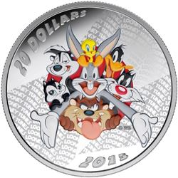 2015 - $20 Merrie Melodies .9999 Fine Silver. Sold