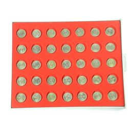 Lot (35) 5 Pence Coins in 'Lindner' Tray