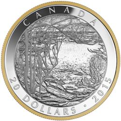 2015 - $20 Spring Ice Tom Thomson .9999 Fine Silve