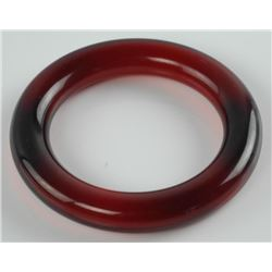 Estate Bangle Cuff Bracelet. (Red)