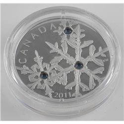 .9999 Fine Silver $20.00 Coin 'Crystal Snowflakes