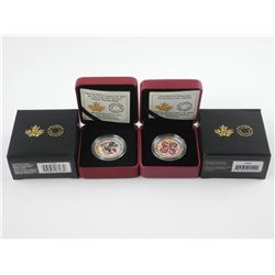 2x .9999 Fine Silver $10.00 Coins: First Nations -