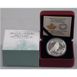 $5 - 2014 Lion on Mountain .9999 Fine Silver.