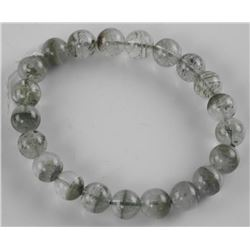 Estate - Jade 6mm Bead Flex Bracelet