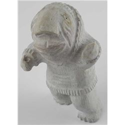 Hand Carved Stone Sculpture 'Inuit Man' Estate - 7