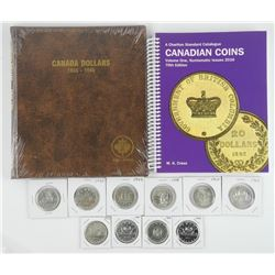 Silver Dollar Collection 10 Coin, Album, Price Gui