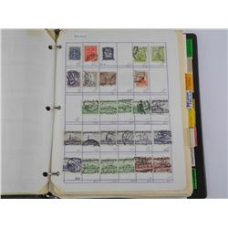 Estate - Europe Stamp Collection Binder Lot