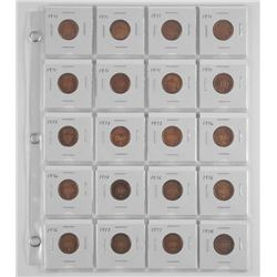 Lot (20) New Penny Coins