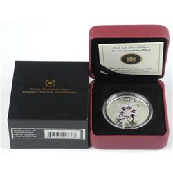 2010 .9999 Fine Silver $20.00 Coin 'Crystal Snowfl