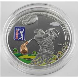 PGA- Golf Tour - Golf Club 925 Silver $5.00 Coin.