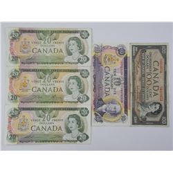 Lot of Bank of Canada Notes. 170.00 Face.