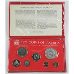 Jamaica 1972 Coin Set - 5.00 Sterling Silver Coin