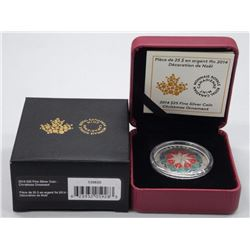 2014 $25 Fine Silver Coin - Christmas Ornament.