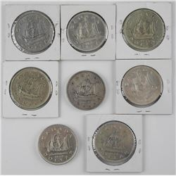 8x Estate King George Silver Dollar 1949