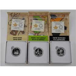3x .9999 Fine Silver Looney Tunes $10.00 Coins. LE