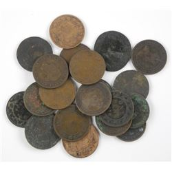 Estate Lot (20) Large Cent Coins.